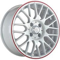 Колесный диск NZ SH668 7x17/5x114,3 D66.1 ET50 белый с красной полосой (WRS)