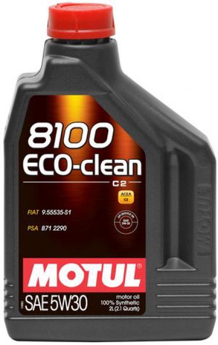 Моторное масло MOTUL 8100 Eco-clean, 5W-30, 2л, 101543