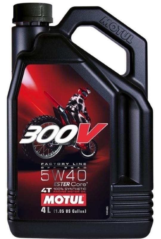 Моторное масло MOTUL 300V 4T Off Road, 5W-40, 4 л, 102708