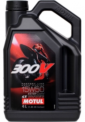 Моторное масло MOTUL 300V 4T Factory Line Road Racing, 15W-50, 4л, 104129