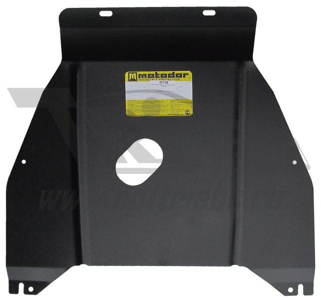 Защита картера двигателя, радиатора AUDI A6 (4B2) 2001-2004 V=2,0 (сталь 2 мм), MOTODOR00135