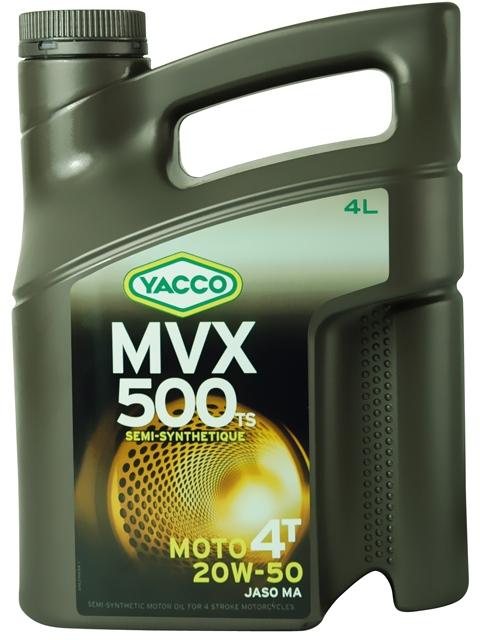 Масло для мотоциклов с 4-тактными двигателями YACCO MVX 500 TS 4T п/синт. 20W50, SL (4 л)
