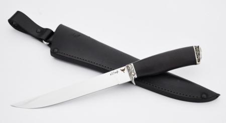 Нож Филейный большой (Х12МФ, граб, литье, мельхиор), KNIFE YARD, 00371