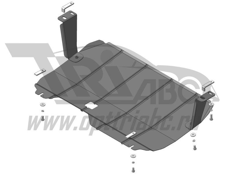 Защита картера двигателя, КПП Ford Tourneo Custom; передний; V=2,2; с 2013 г Стандарт, MOTODOR60711