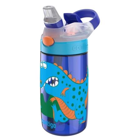 Детская бутылка для воды Contigo Gizmo Flip, синия с динозавром,420 мл, 10000470