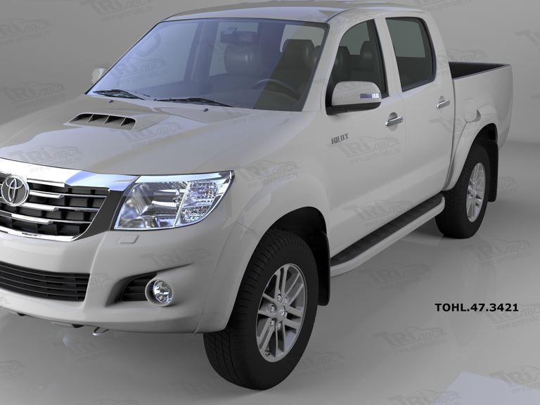 Пороги алюминиевые (Alyans) Toyota HiLux (2012-2015), TOHL473421