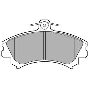 Колодки дисковые, DELPHI, LP993