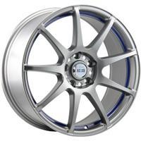 Колесный диск Alcasta M29 6x15/4x100 D56.1 ET50 матовый темно-серыйс синей полосой внутри (MGMBSI)