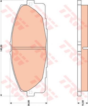 Колодки дисковые Передние, TRW, GDB3485