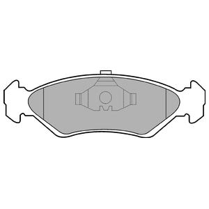 Колодки дисковые, DELPHI, LP591