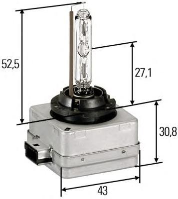 Лампа, 35 Вт, D1S, PK32d-2, HELLA, 8GS 009 028-111