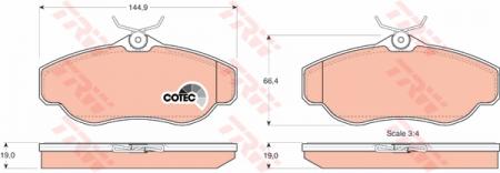 Колодки дисковые Передние, TRW, GDB1156