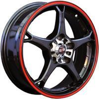 Колесный диск Alcasta M11 6x15/4x100 D57.1 ET36 черный с красной полосой по ободу (BKRS)