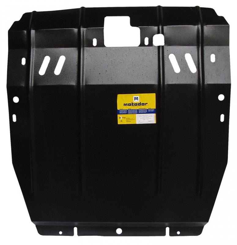 Защита картера двигателя, КПП Hyundai Santa Fe II 2006-2012 V= все (сталь 2 мм), MOTODOR00917