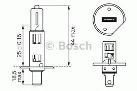 Лампа Allyear, 12 В, 55 Вт, H1, P14,5s, BOSCH, 1 987 302 013