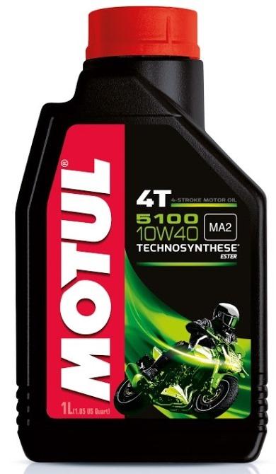 Моторное масло MOTUL 5100 4T, 10W-40, 1 л, 104066