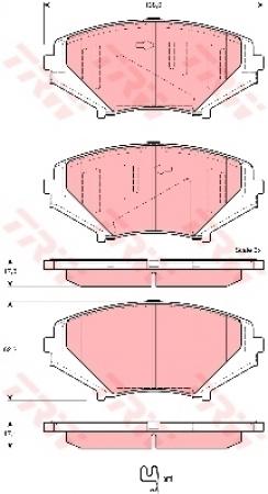Колодки дисковые Передние, TRW, GDB3356