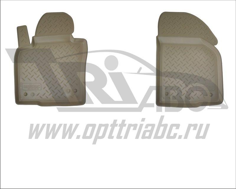 Коврики салона для УАЗ Патриот\ Pickup\ Cargo 3D (2014-) (передние) Бежевый, NPA10C93504BEIGE