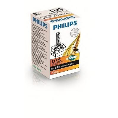 Лампа, 42 В, 35 Вт, D3S, PK32d-5, PHILIPS, 42403 VIC1