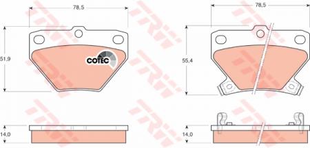 Колодки дисковые Задние, TRW, GDB3243