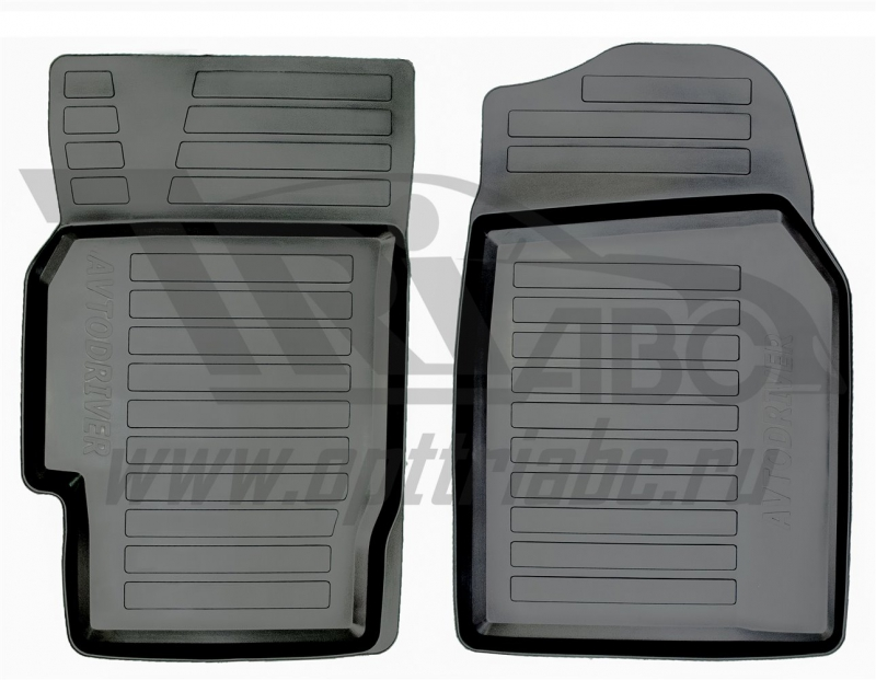 Коврики салона резиновые с бортиком для Mazda 6 (2008-2012) (2 передних), ADRAVG0372