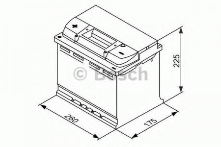Аккумуляторная батарея Bosch L4, 12 В, 75 А/ч, 0092L40130