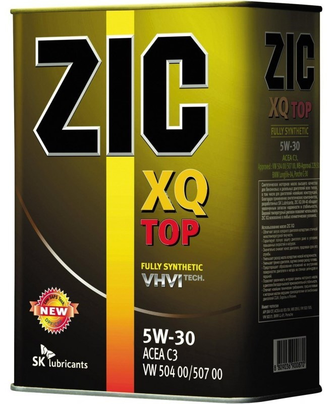 Масло моторное ZIC XQ TOP 5W-30, 4л, 167145