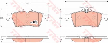 Колодки дисковые Задние, TRW, GDB1621