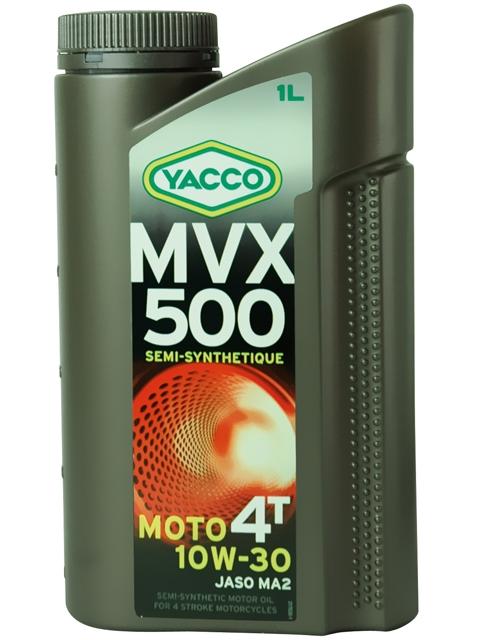 Масло для мотоциклов с 4-тактными двигателями YACCO MVX 500 4T п/синт. 10W30 , SL (1 л)