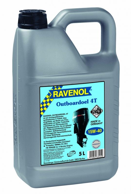 Моторное масло RAVENOL Outboardoel 4T, 15W-40, 5 л, 4014835634459