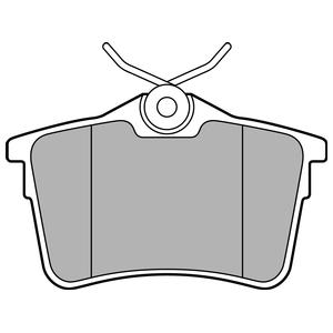 Колодки дисковые, DELPHI, LP2147
