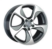 Колесный диск Ls Replica VV150 7x17/5x112 D66.6 ET43 серый глянец, полированнные спицы и обод (GMF)