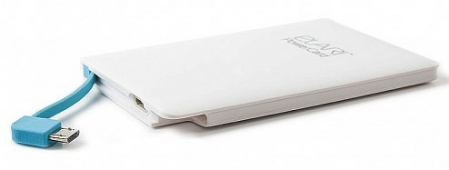 PowerCard 2500 mAh MicroUSB/Lightning-адаптер, Белый, ELARI, 187460