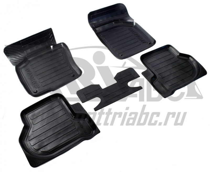 Коврики салона резиновые с бортиком для Skoda Oktavia А5 (2008-2013), ADRAVG211