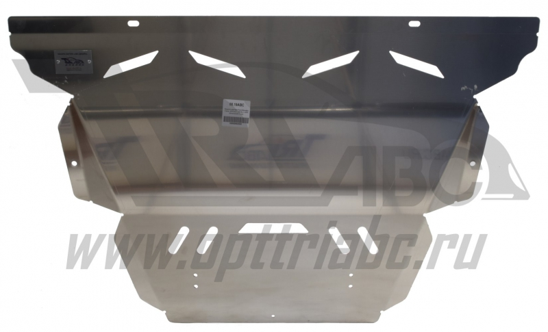 Защита картера двигателя и кпп Ford Mondeo V-все, КПП-все ( 2015-) (Алюминий 4 мм), 0819ABC