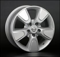 Колесный диск Ls Replica NS25 6.5x17/5x114,3 D60.1 ET45 серый глянец, полированнные спицы и обод (GM