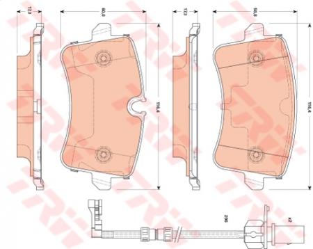 Колодки дисковые Задние, TRW, GDB1867