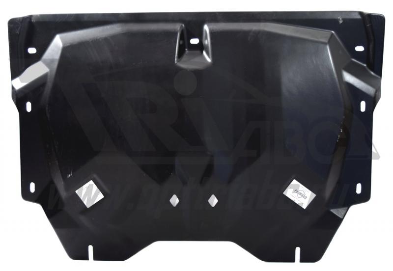 Защита картера двигателя и кпп Kia Soul (Киа Соул) ( 2014- V-все, кроме диз. двиг.) (Композит 6 мм),