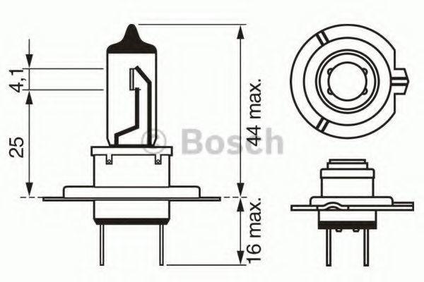 Лампа Trucklight, 24 В, 70 Вт, H7, PX26d, BOSCH, 1 987 302 471