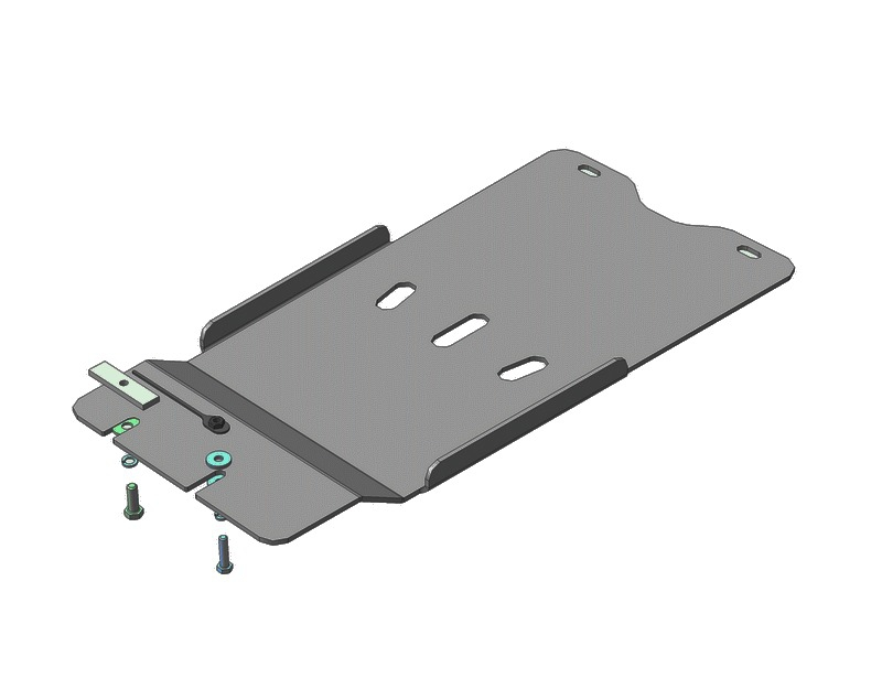 Защита картера КПП Lexus GS III 2004-2012 V=3,0 (алюминий 5 мм), MOTODOR35010