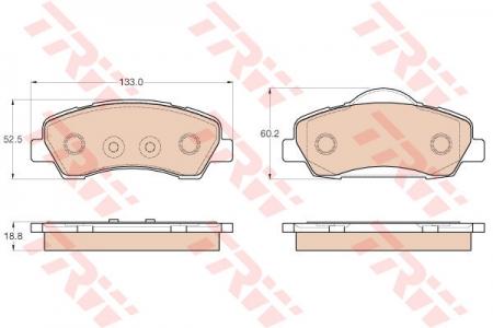 Колодки дисковые Передние, TRW, GDB1992