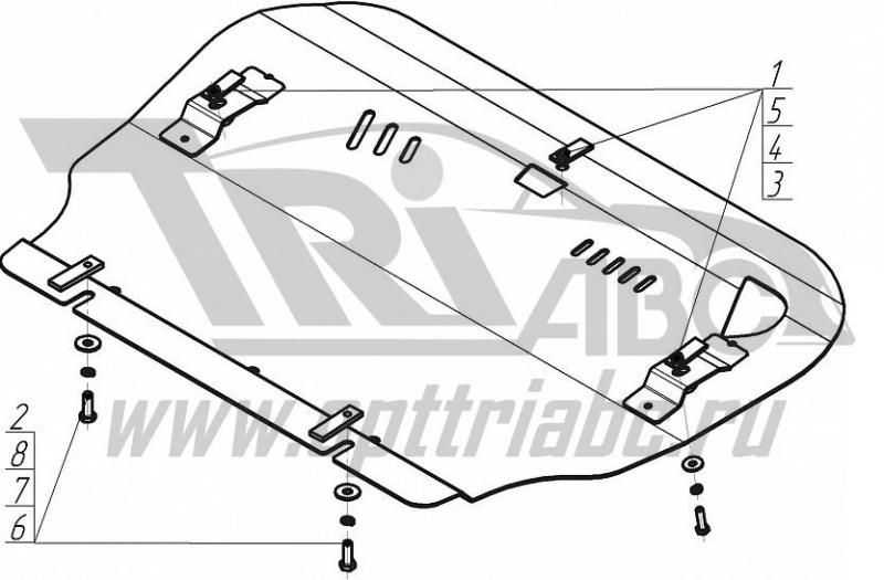 Защита картера двигателя, КПП Range Rover Evoque 2011- Range Rover Evoque Coupe 2011- V=2,0Si, 2,4TD