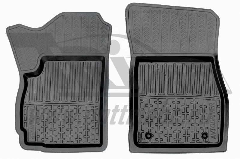 Коврики салона резиновые с бортиком для Chevrolet Orlando (из 7-ми)(2011-) (2 передних), ADRAVG0172