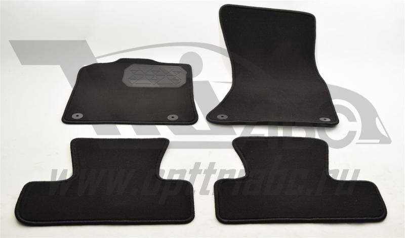 Коврики салона текстильные Audi (Ауди) Q5 (2008-) (Велюр, полиамид)(подпятник п/у)(черные), NPLVTE05