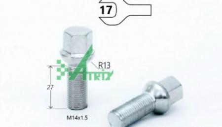 Болт S17D27 Z M14X1,50X27 Цинк Сфера с выступом ключ 17 мм 084105