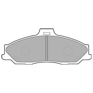 Колодки дисковые, DELPHI, LP1555