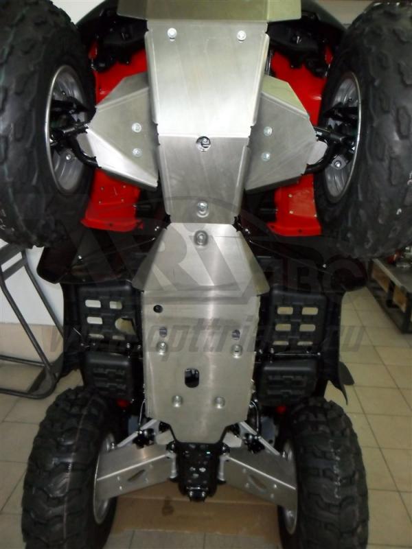 Защита днища, рычагов и пороги ATV Honda (Хонда) FourTrax Rincon TRX680FA V-680 (2007-2015) (Алюмини