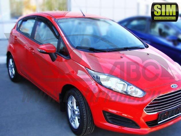 Дефлекторы боковых окон Ford Fiesta (2013-) HB (4шт.) (темн.), SFOFIEH0832