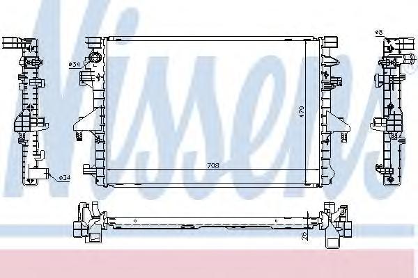 Радиатор системы охлаждения, NISSENS, 65285