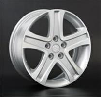 Колесный диск Ls Replica SZ5 6.5x16/5x114,3 D66.1 ET45 серый глянец, полированнные спицы и обод (GMF